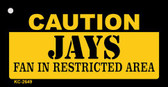 Caution Jays Fan Area Wholesale Key Chain