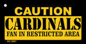 Caution Cardinals Fan Area Wholesale Key Chain