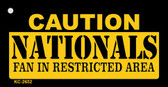 Caution Nationals Fan Area Wholesale Key Chain