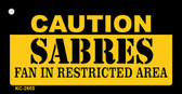 Caution Sabres Fan Area Wholesale Key Chain