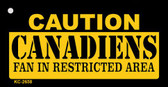 Caution Canadiens Fan Area Wholesale Key Chain