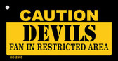 Caution Devils Fan Area Wholesale Key Chain