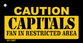 Caution Capitals Fan Area Wholesale Key Chain