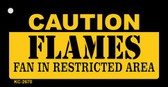 Caution Flames Fan Area Wholesale Key Chain