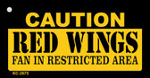 Caution Red Wings Fan Area Wholesale Key Chain