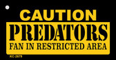 Caution Predators Fan Area Wholesale Key Chain