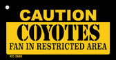 Caution Coyotes Fan Area Wholesale Key Chain