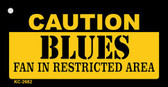 Caution Blues Fan Area Wholesale Key Chain