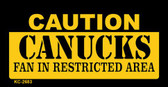 Caution Canucks Fan Area Wholesale Key Chain