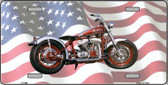 Indian Motorcycle American Flag Wholesale Metal Novelty License Plate