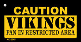 Caution Vikings Fan Area Wholesale Key Chai