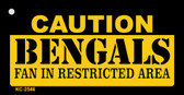 Caution Bengals Fan Area Wholesale Key Chain