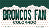 Broncos Fan Colorado State License Plate Wholesale Magnet M-10757