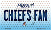 Chiefs Fan Missouri State License Plate Wholesale Magnet M-10769