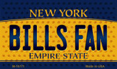 Bills Fan New York State License Plate Wholesale Magnet M-10771