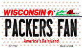 Packers Fan Wisconsin State License Plate Wholesale Magnet M-10784