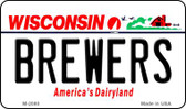 Brewers Wisconsin State License Plate Wholesale Magnet M-2080