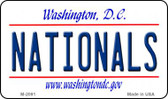 Nationals Washington DC State License Plate Wholesale Magnet M-2091