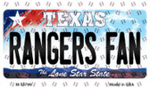 Rangers Fan Texas State License Plate Wholesale Magnet M-10796