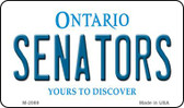 Senators Ontario State License Plate Wholesale Magnet M-2069