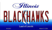 Blackhawks Illinois State License Plate Wholesale Magnet M-2287