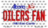 Oilers Fan Alberta State License Plate Wholesale Magnet M-10819
