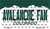 Avalanche Fan Colorado State License Plate Wholesale Magnet M-10828