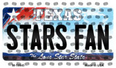 Stars Fan Texas State License Plate Wholesale Magnet M-10845