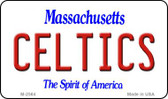 Celtics Massachusetts State License Plate Wholesale Magnet M-2564