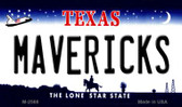 Mavericks Texas State License Plate Wholesale Magnet M-2568