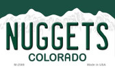 Nuggets Colorado State License Plate Wholesale Magnet M-2569