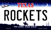 Rockets Texas State License Plate Wholesale Magnet M-2572