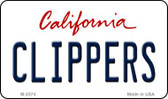 Clippers California State License Plate Wholesale Magnet M-2574