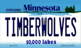 Timberwolves Minnesota State License Plate Wholesale Magnet M-2579