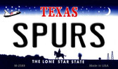Spurs Texas State License Plate Wholesale Magnet M-2589