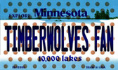 Timberwolves Fan Minnesota State License Plate Wholesale Magnet M-10864