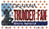 Thunder Fan Oklahoma State License Plate Wholesale Magnet M-10868