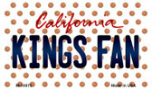 Kings Fan California State License Plate Wholesale Magnet M-10873