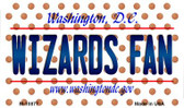 Wizards Fan Washington DC State License Plate Wholesale Magnet M-10877