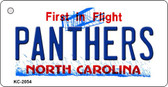 Panthers North Carolina State License Plate Wholesale Key Chain KC-2054