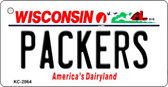 Packers Wisconsin State License Plate Wholesale Key Chain KC-2064