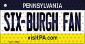 Six-Burgh Fan Pennsylvania State License Plate Wholesale Key Chain KC-10785