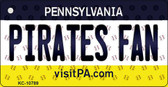 Pirates Fan Pennsylvania State License Plate Wholesale Key Chain KC-10789