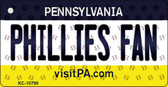 Phillies Fan Pennsylvania State License Plate Wholesale Key Chain KC-10790
