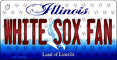 White Sox Fan Illinois State License Plate Wholesale Key Chain KC-10792