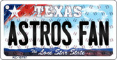 Astros Fan Texas State License Plate Wholesale Key Chain KC-10797