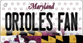 Orioles Fan Maryland State License Plate Wholesale Key Chain KC-10816