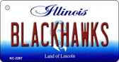 Blackhawks Illinois State License Plate Wholesale Key Chain KC-2287
