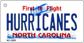 Hurricanes North Carolina State License Plate Wholesale Key Chain KC-2295