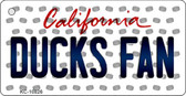 Ducks Fan California State License Plate Wholesale Key Chain KC-10826